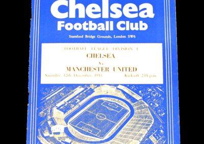 Chelsea v Manchester United 12.12.1953