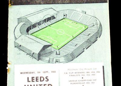 Manchester City v Leeds United 05.09.1956