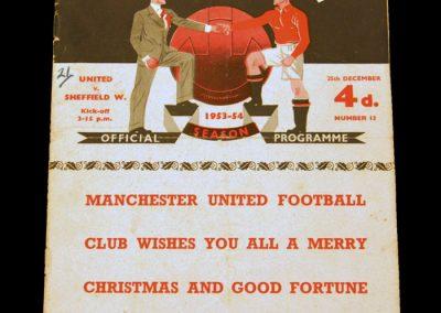 Sheffield Wednesday v Manchester United 25.12.1953