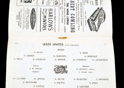 Manchester City v Leeds United 12.09.1956