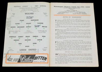 Wolverhampton Wanderers v Leeds United 15.09.1956