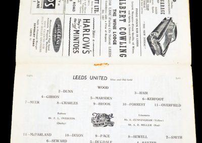 Aston Villa v Leeds United 22.09.1956