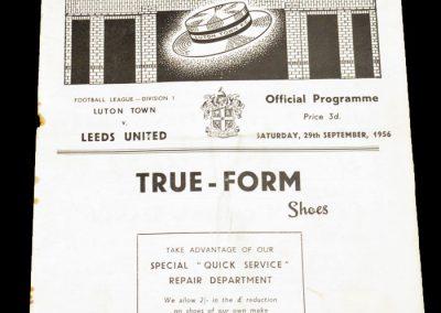 Luton Town FC v Leeds United 29.09.1956
