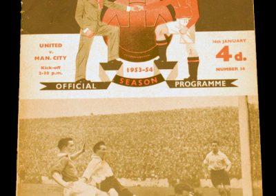 Manchester City v Manchester United 16.01.1954
