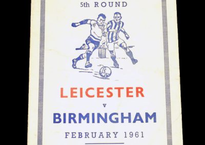 Birmingham City v Leicester City 18.02.1961   FA Cup 18.02.1961