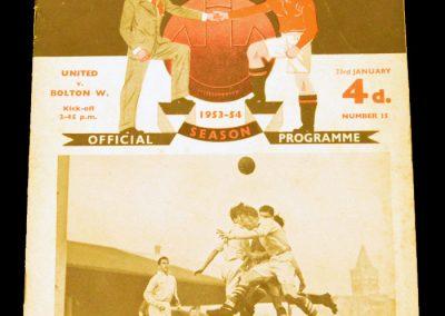 Bolton Wanderers v Manchester United 23.01.1954