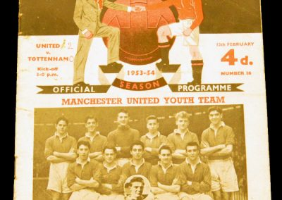 Tottenham Hotspur v Manchester United 13.02.1954