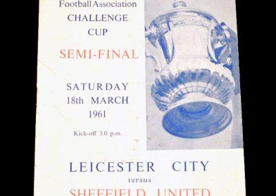 Sheffield United v Leicester City 18.03.1961   FA Cup Semi Final