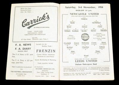 Newcastle United v Leeds United 03.11.1956