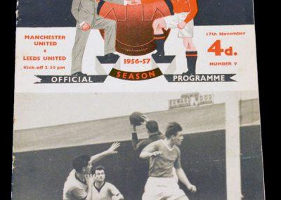 Manchester United v Leeds United 17.11.1956