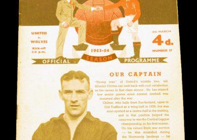 Wolverhampton Wanderers v Manchester United 06.03.1954