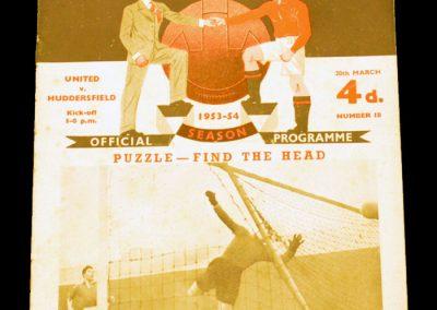 Huddersfield Town v Manchester United 20.03.1954