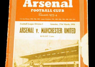 Arsenal v Manchester United 27.03.1954