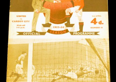 Cardiff City v Manchester United 03.04.1954