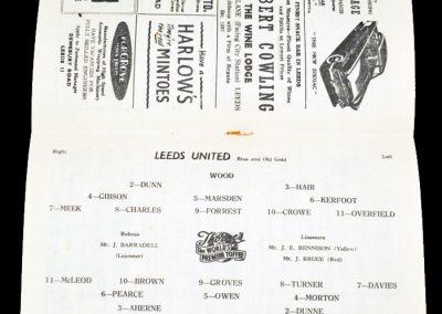 Luton Town v Leeds United 09.02.1957