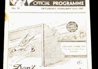 Preston North End v Leeds United 23.02.1957