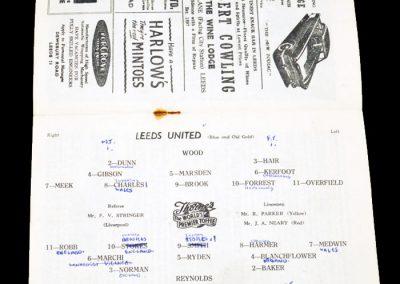 Tottenham Hotspur v Leeds United 02.03.1957