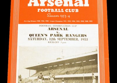Queens Park Rangers v Arsenal 12.09.1953