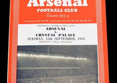 Crystal Palace v Arsenal 15.09.1953