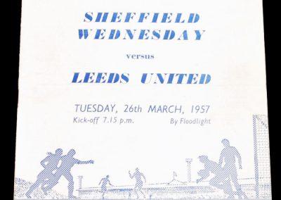 Sheffield Wednesday v Leeds United 26.03.1957