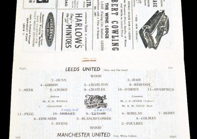 Manchester United v Leeds United 30.03.1957