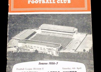 Arsenal v Leeds United 06.04.1957