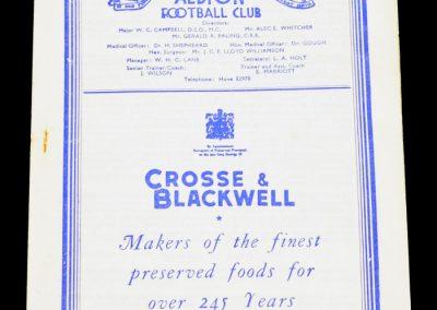 Brighton & Hove Albion v Arsenal Reserves 10.10.1953