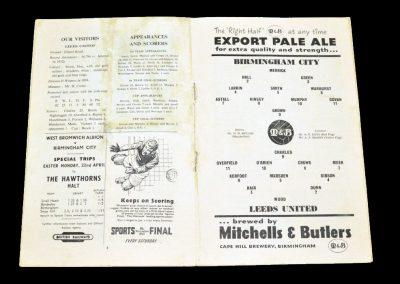 Birmingham City v Leeds United 20.04.1957