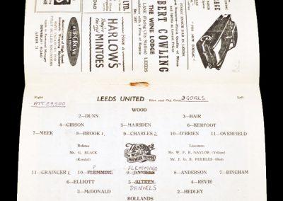 Sunderland v Leeds United 22.04.1957