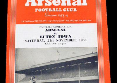 Luton Town v Arsenal 21.11.1953