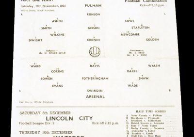Fulham v Arsenal 28.11.1953
