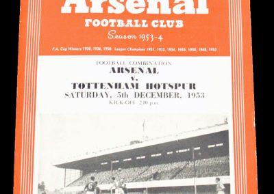 Tottenham Hotspur v Arsenal 05.12.1953