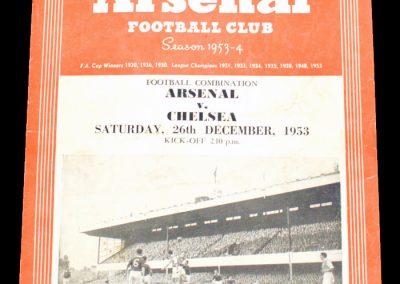 Chelsea v Arsenal 26.12.1953