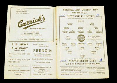 Newcastle United v Manchester City 20.10.1956