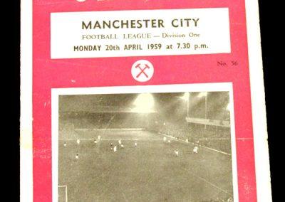 West Ham United v Manchester City 20.04.1959