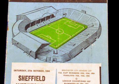 Sheffield Wednesday v Manchester City 27.10.1956
