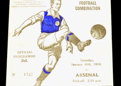 Ipswich Town v Arsenal 16.01.1954