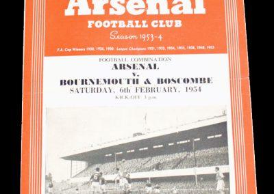 Bournemouth & Boscombe v Arsenal 06.02.1954