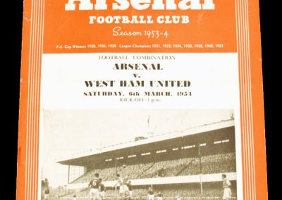 West Ham United v Arsenal 06.03.1954