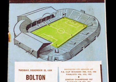 Bolton Wanderers v Manchester City 25.12.1956