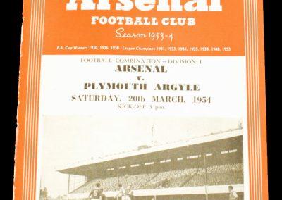 Arsenal v Plymouth Argyle 20.03.1954