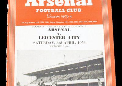 Leicester City v Arsenal 03.04.1954
