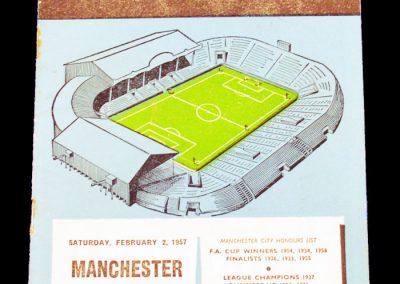 Manchester United v Manchester City 02.02.1957