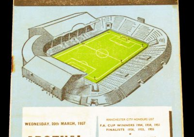 Arsenal v Manchester City 20.03.1957