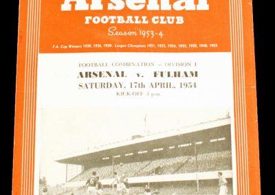 Fulham v Arsenal 17.04.1954