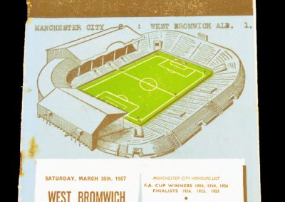 West Bromwich Albion v Manchester City 30.03.1957