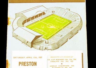 Preston North End v Manchester City 13.04.1957