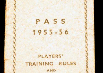 Players Pass Workington AFC 1955 - 1956