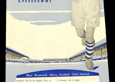 West Bromwich Albion v Brentford FC 24.01.1959   FA Cup 4th Round