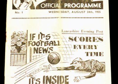 Preston North End v Luton 24.08.1955